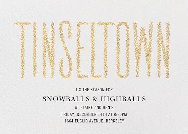 Tinseltown - Gold - Paperless Post - Winter parties