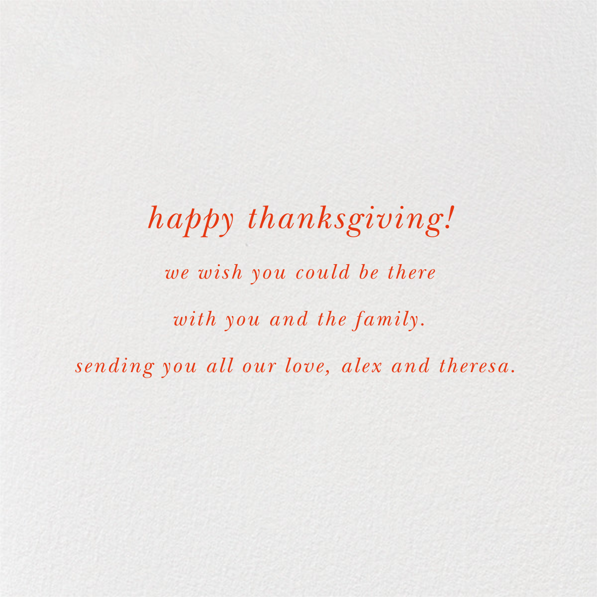 Good Food Good Mood - kate spade new york - Thanksgiving - card back