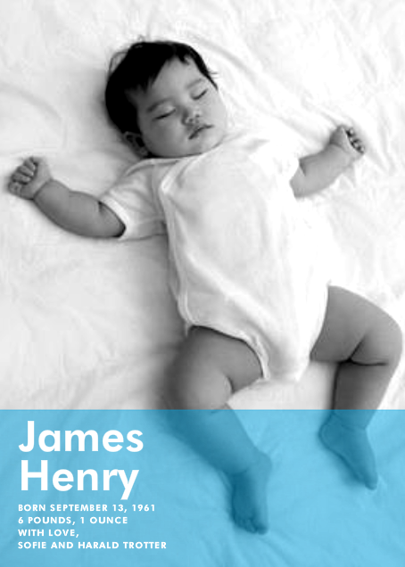Nursery Window - Blue - Paperless Post - Birth