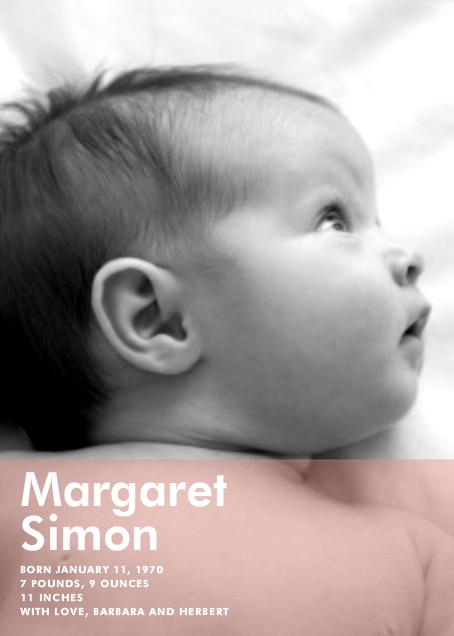 Nursery Window - Pink - Paperless Post