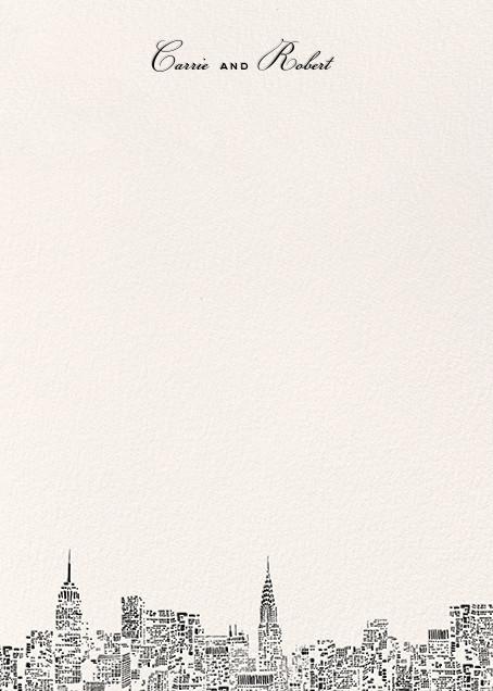 City Lights II (Stationery) - Cream/Black - kate spade new york - Personalized stationery