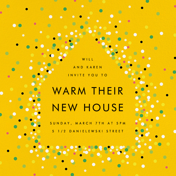 House of Sparks - Yellow - Paperless Post - Housewarming