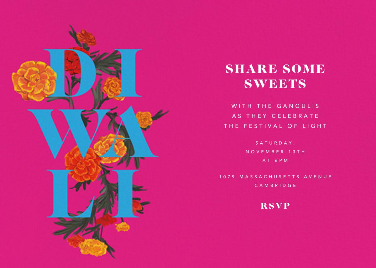 Diwali in Bloom (Invitation) - Paperless Post - Diwali