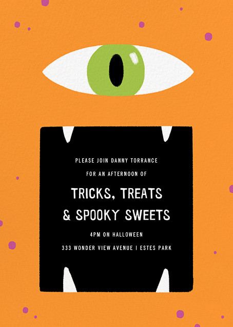 Hungry Eye - Paperless Post - Kids' Halloween invitations