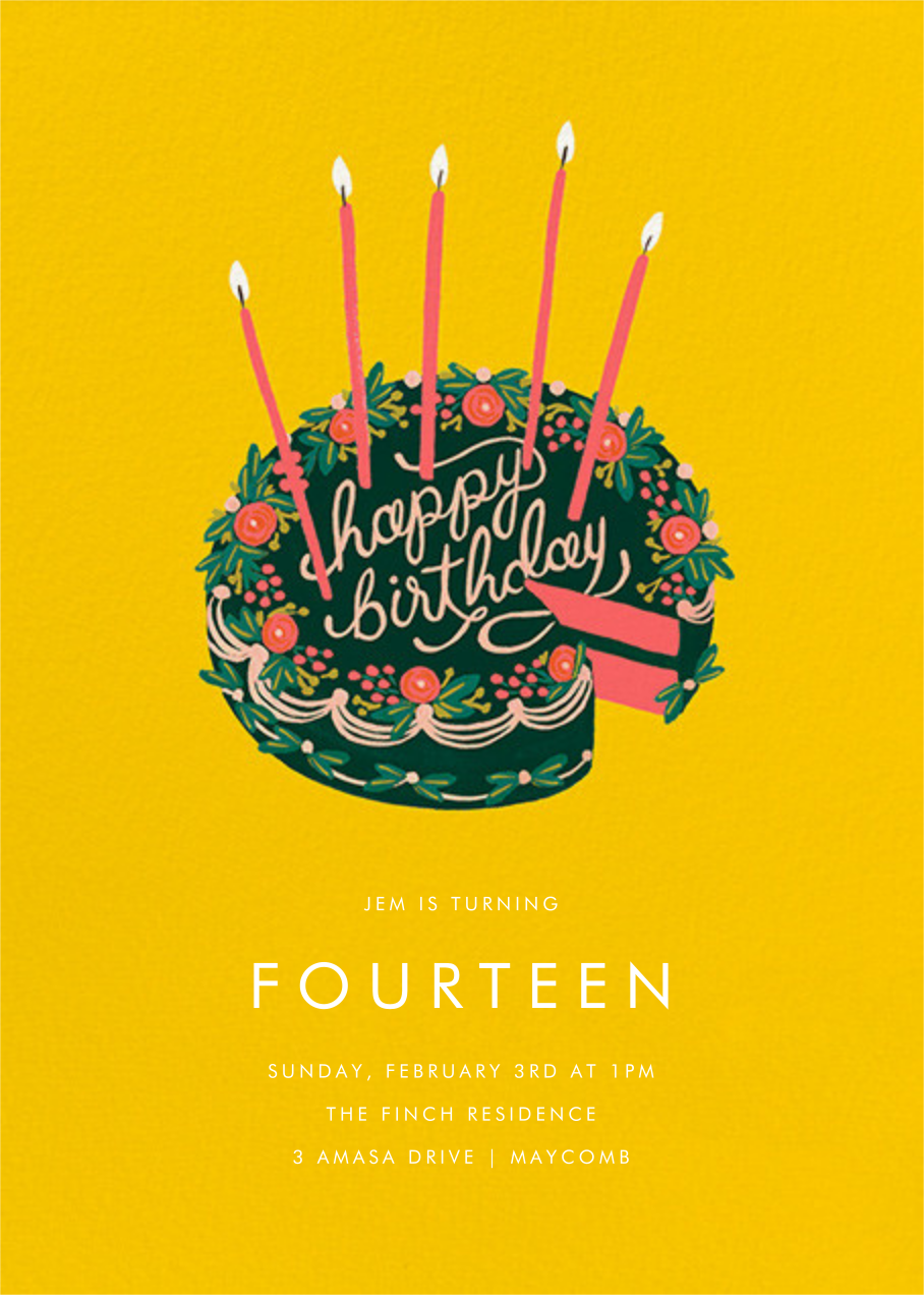 First Slice - Yellow - Rifle Paper Co. - Kids' birthday