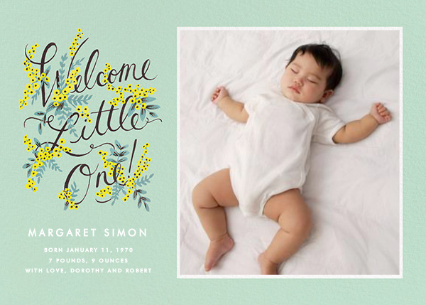 Welcome Little One (Photo) - Rifle Paper Co. - Birth