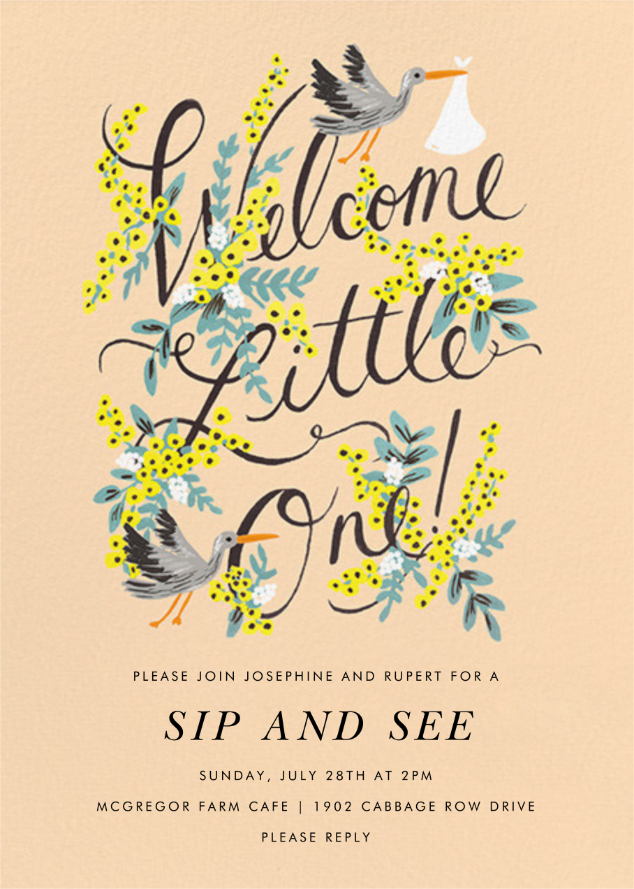 Welcome Little One - Rifle Paper Co. - Baby shower