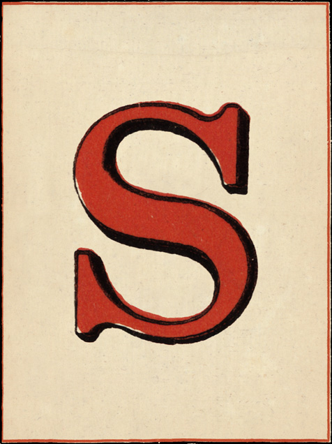 Red Letter - S - John Derian - Adult birthday