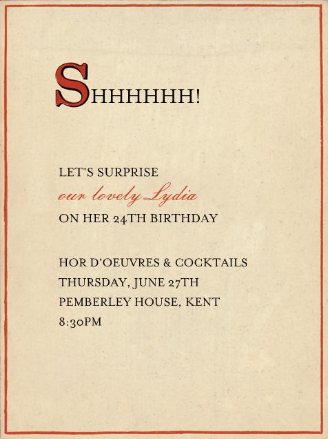 Red Letter - S - John Derian - Adult birthday - card back