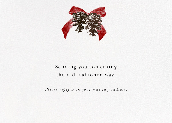 Winter Pine (Horizontal) - Red - Paperless Post - Address collection cards