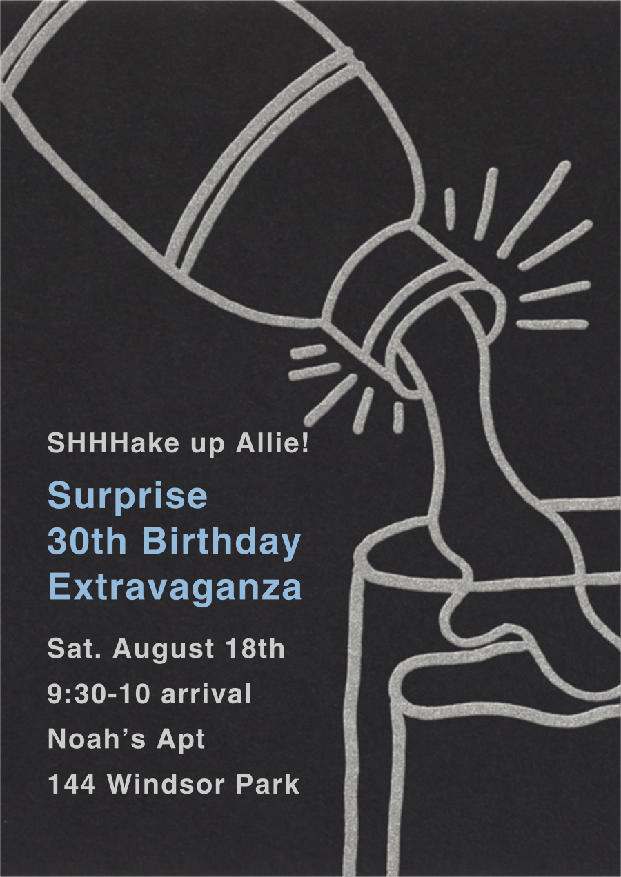 Shake N Roll - Silver - Paperless Post - Surprise party