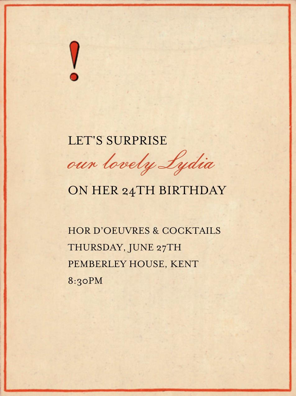 Red Letter - ! - John Derian - Adult birthday - card back