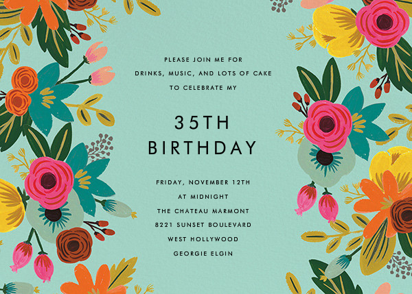 Floral Tropics - Celadon - Rifle Paper Co. - Adult birthday
