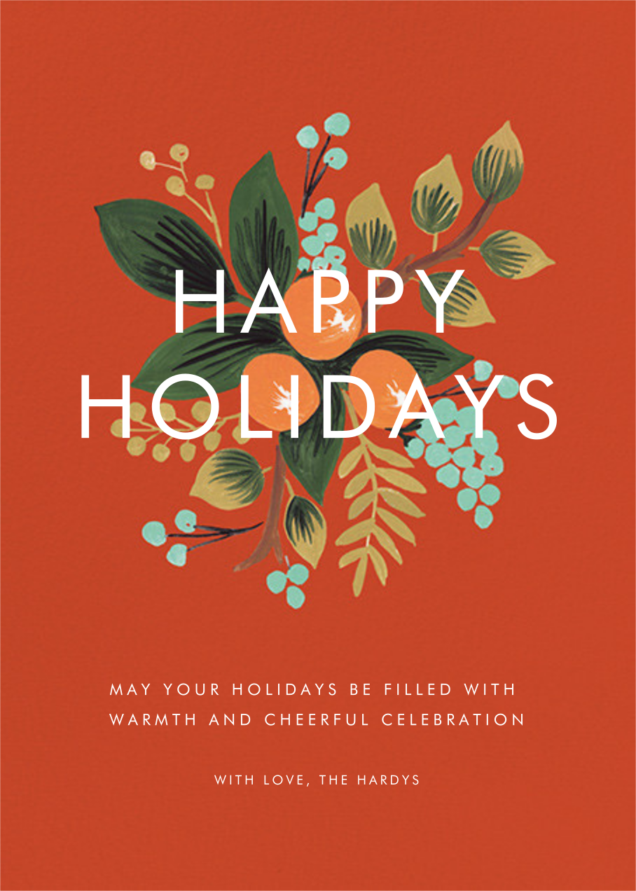 Orange Cluster (Holiday Greeting) - Rifle Paper Co. - Company holiday cards