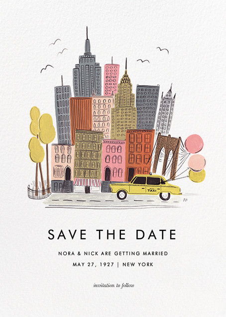 Destination: New York - Rifle Paper Co. - Save the date