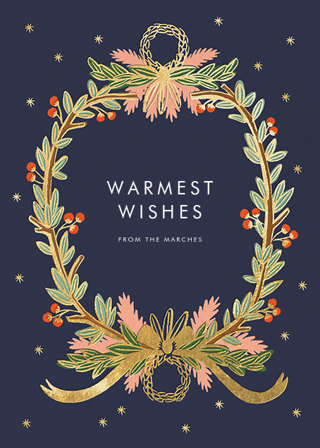 Midnight Wreath - Navy - Rifle Paper Co. - Christmas