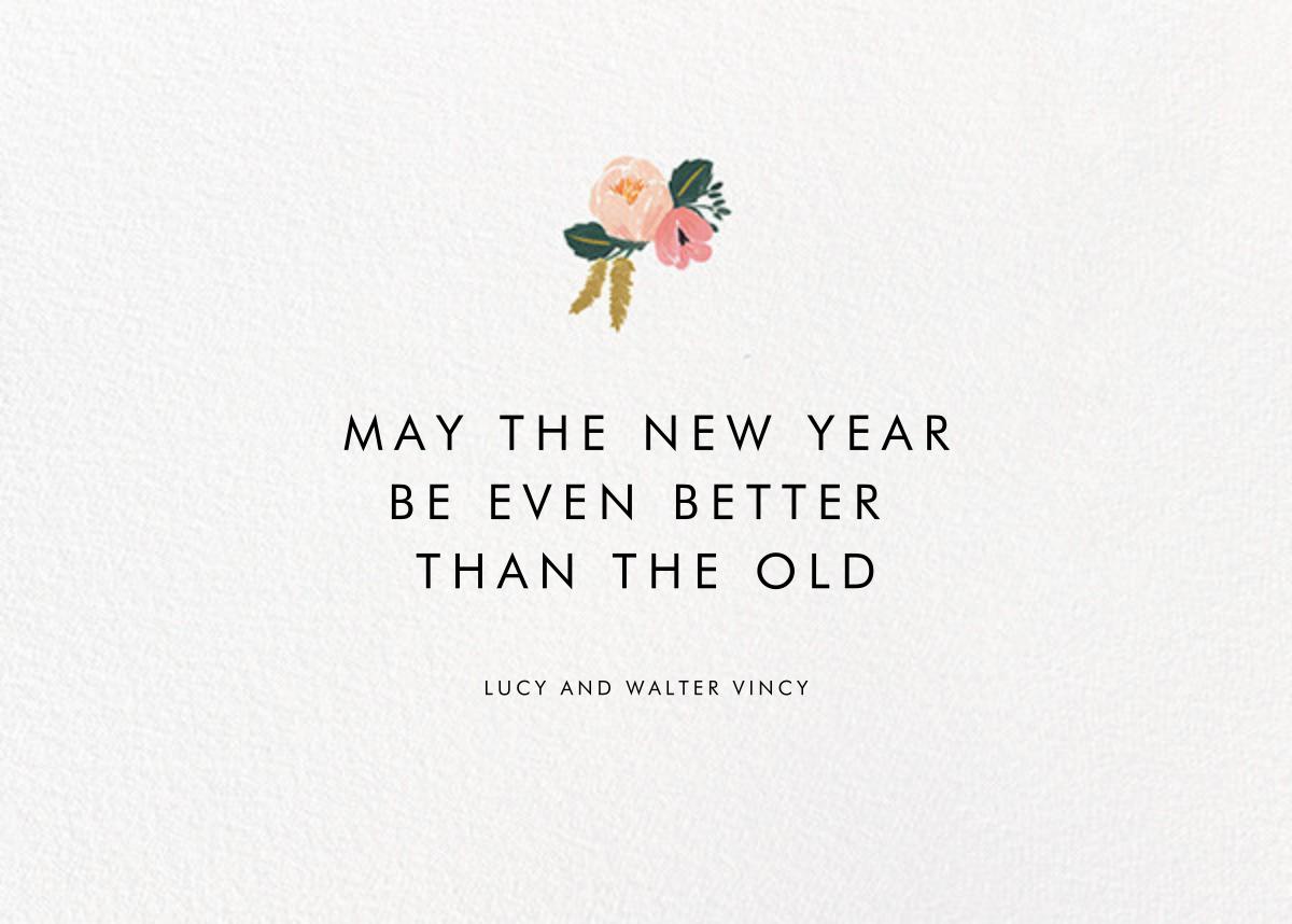 Botanic Year (Horizontal) - Black - Rifle Paper Co. - New Year - card back