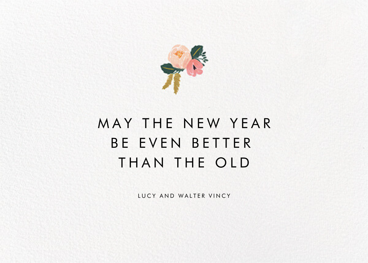 Botanic Year (Horizontal) - Black - Rifle Paper Co. - New Year - card back