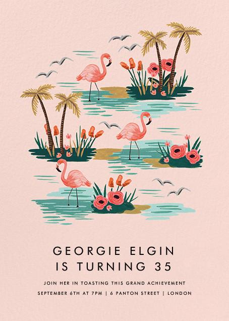 Flamingo Lagoon (Tall) - Rifle Paper Co. - Adult birthday