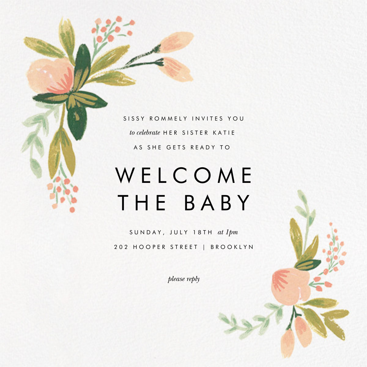 Peach Posies - Rifle Paper Co. - Spring Favorites