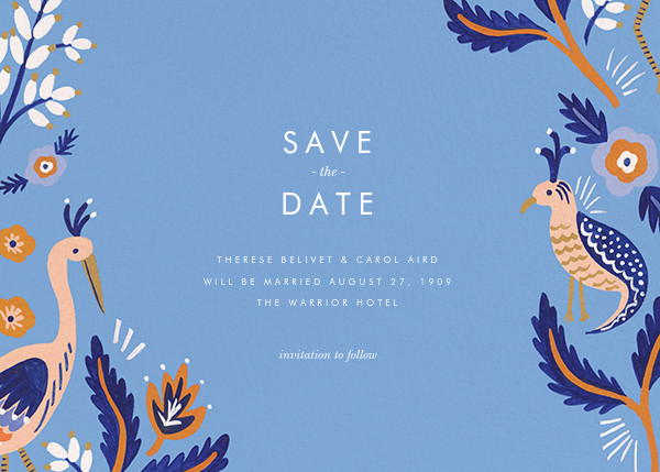 Heron Heralds (Save the Date) - Blue - Rifle Paper Co. - Destination