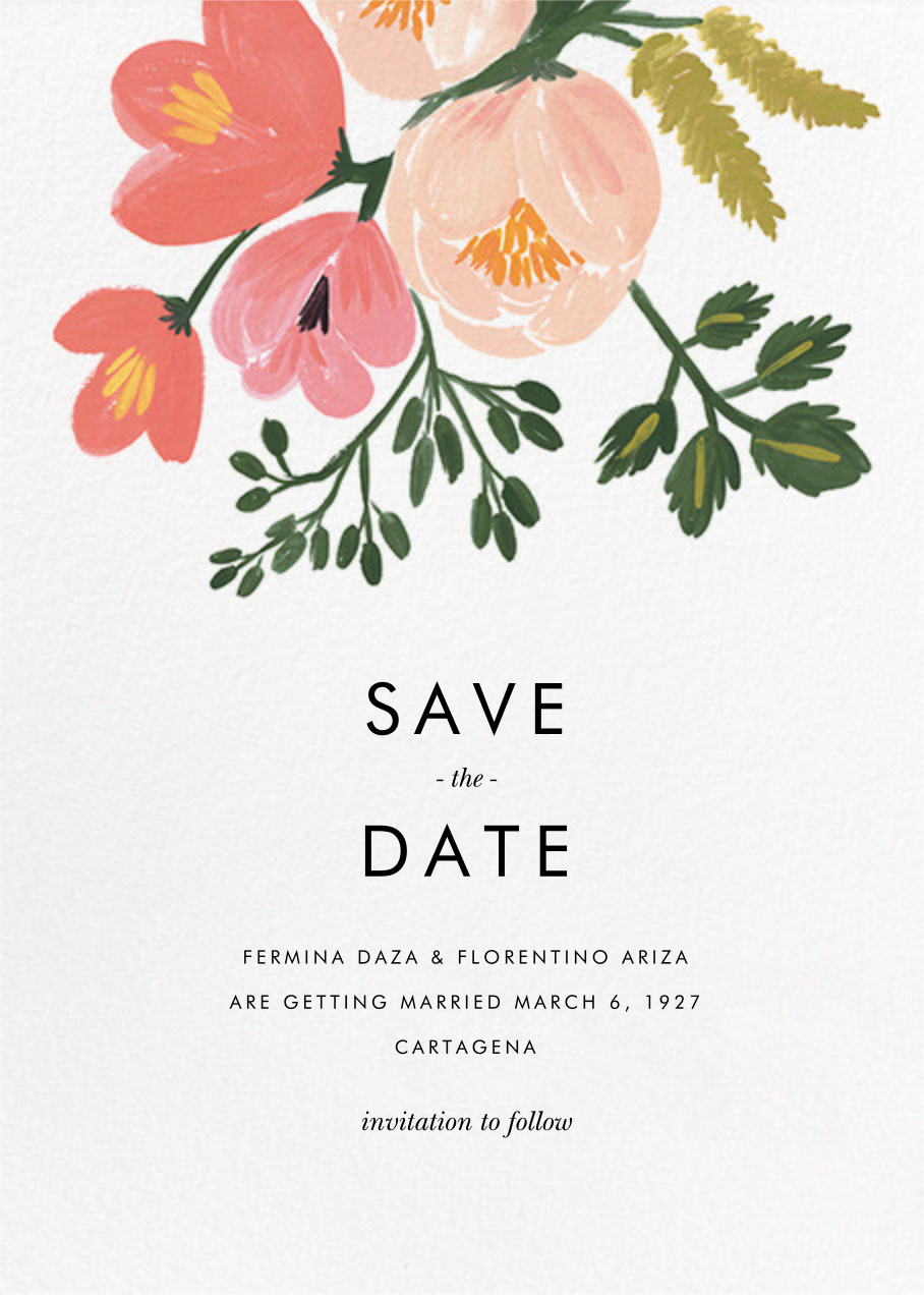 Pastel Petals (Save the Date) - Rifle Paper Co. - Printable invitations