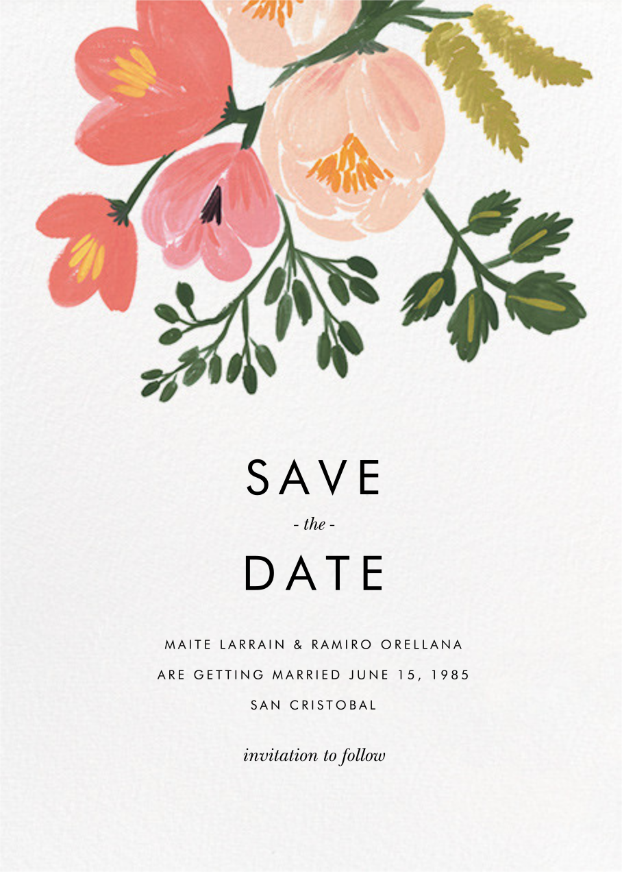 Pastel Petals (Save the Date) - Rifle Paper Co. - Party save the dates