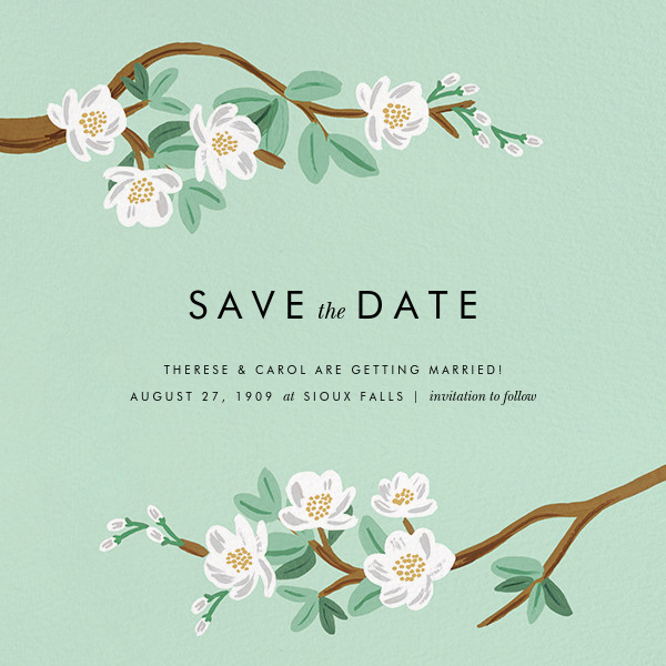 Tea Tree (Save the Date) - Mint - Rifle Paper Co. - Save the date
