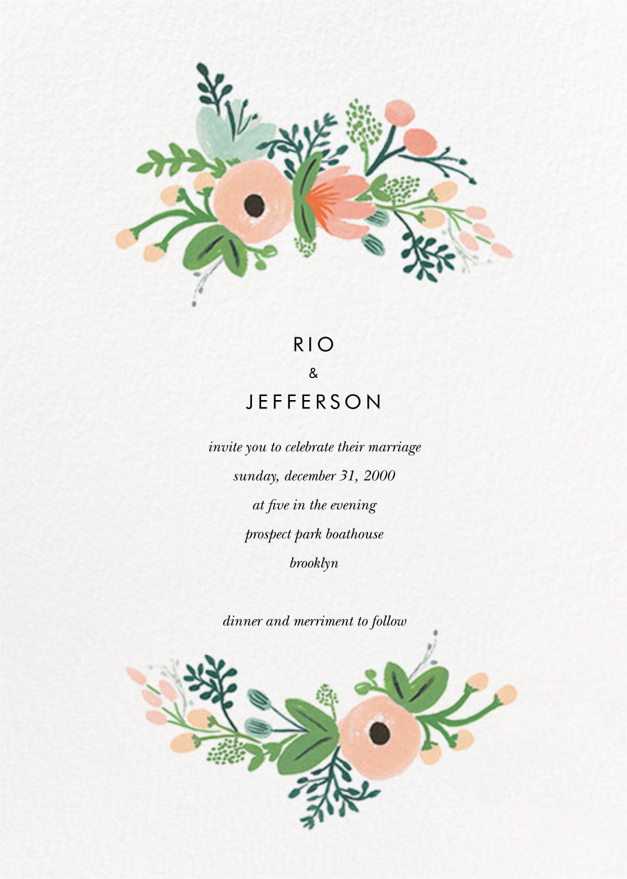 Wrapped in Wildflowers Suite (Invitation) - Rifle Paper Co. - All