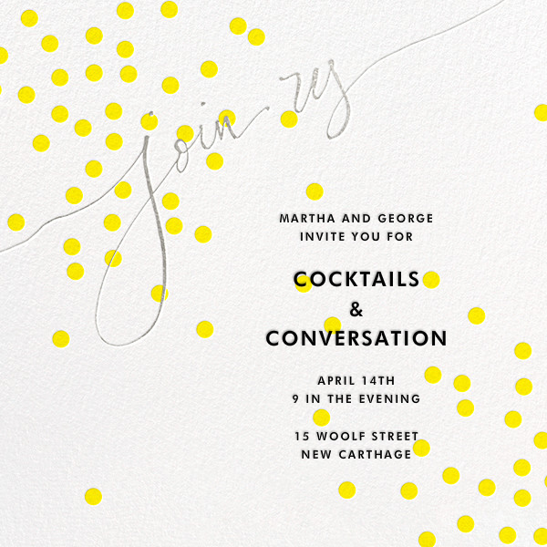 Join Us (Dots) - Yellow/Silver - Linda and Harriett - General entertaining