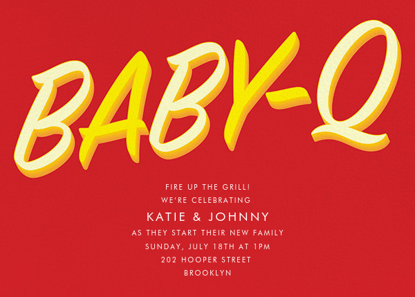 BabeBQ - Red - Paperless Post - Baby shower