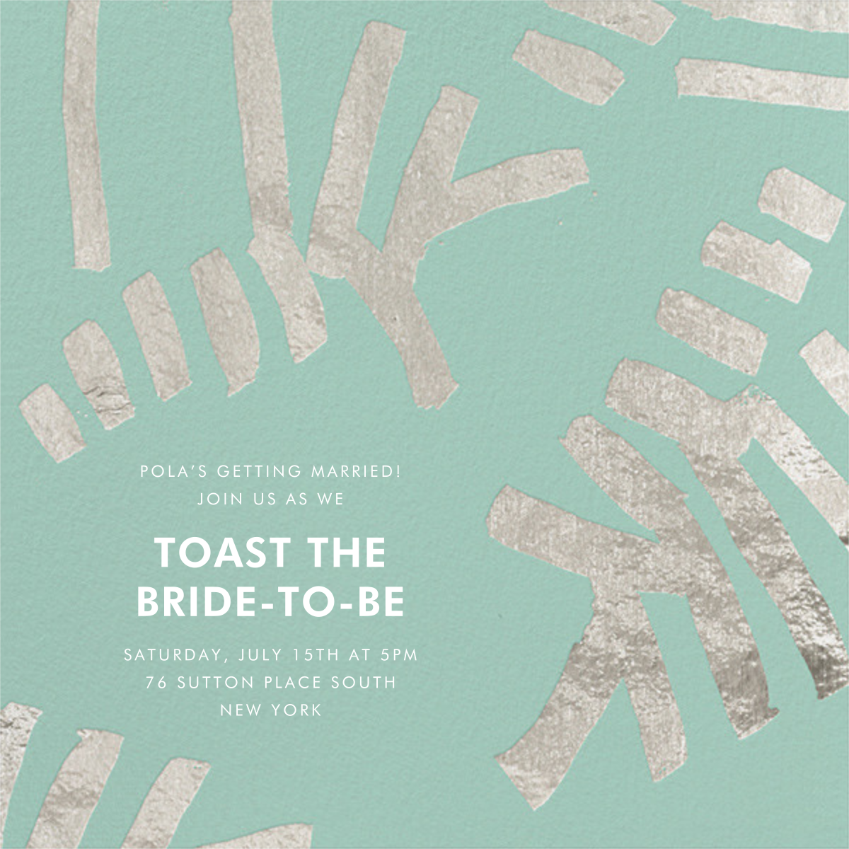 Sonnet - Celadon/Silver - Kelly Wearstler - Bridal shower