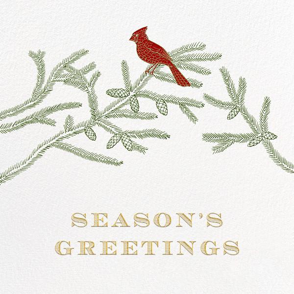 Christmas Cardinal - Ivory - Paperless Post - Christmas