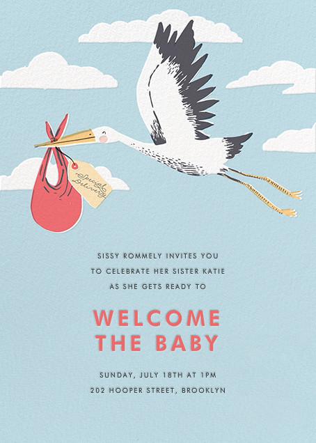 Airmail (Invitation)  - Hello!Lucky - Baby shower