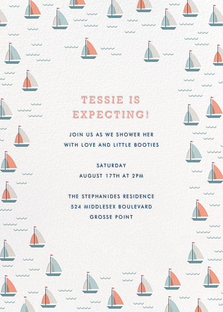 Yachts of Love (Invitation) - Hello!Lucky - Baby shower