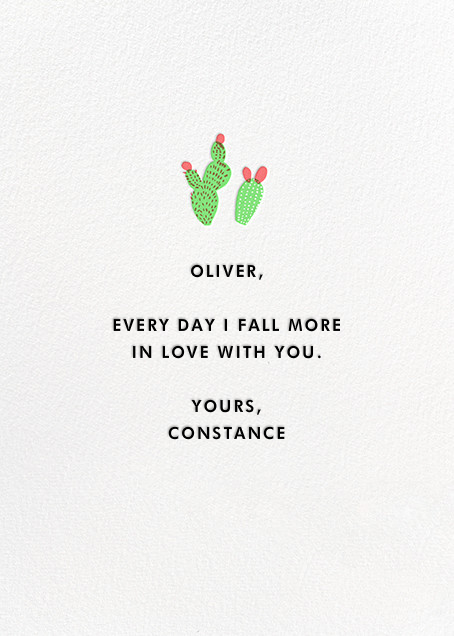 Cactus Love - Hello!Lucky - Love cards - card back