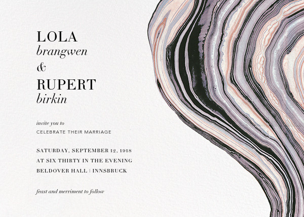 Marbleized (Horizontal Invitation) - Kelly Wearstler - All