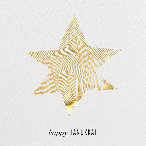 Lumina (Greeting) - Ivory/Gold - Kelly Wearstler - Hanukkah