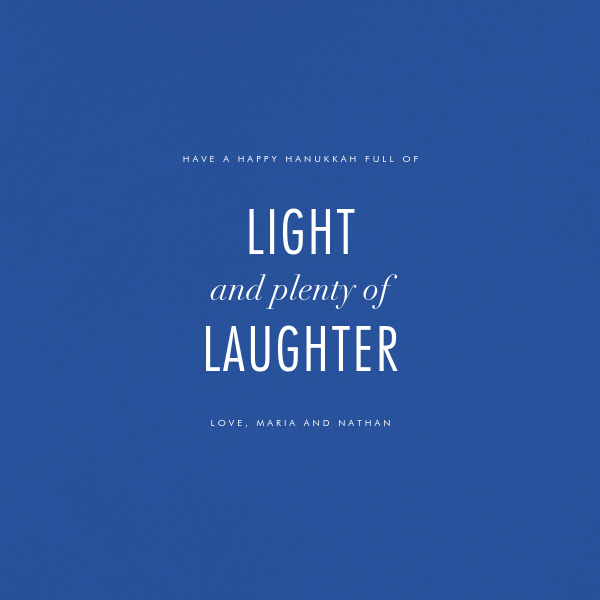 Lumina (Greeting) - Blue/Ivory - Kelly Wearstler - Hanukkah - card back