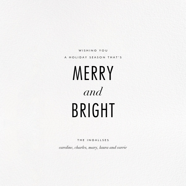 Lux (Holiday Greeting) - Kelly Wearstler - Holiday cards - card back