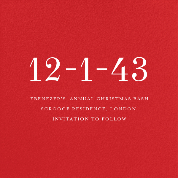 Red (Square) - Paperless Post - Save the date