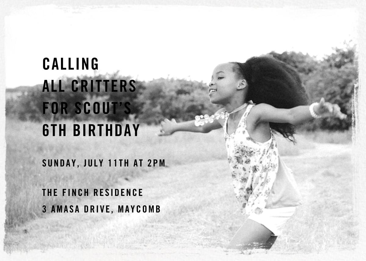 Smudge Border (Horizontal) - Paperless Post - Kids' birthday