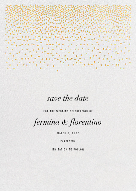 Jubilee II (Save the Date) - Gold - Kelly Wearstler - Save the date