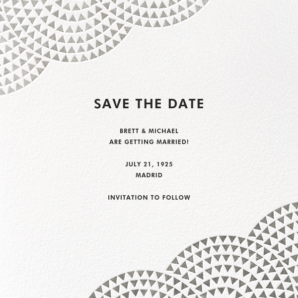 Savoy (Save the Date) - Silver - Paperless Post - null