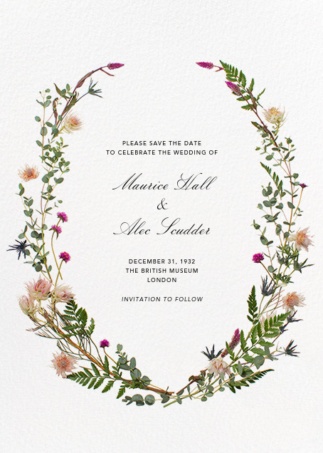Fleurs Sauvages (Tall Save the Date) - Paperless Post - Printable invitations