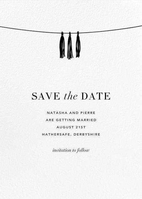 Tasseled II (Photo Save the Date) - Silver - Paperless Post - Save the date - card back