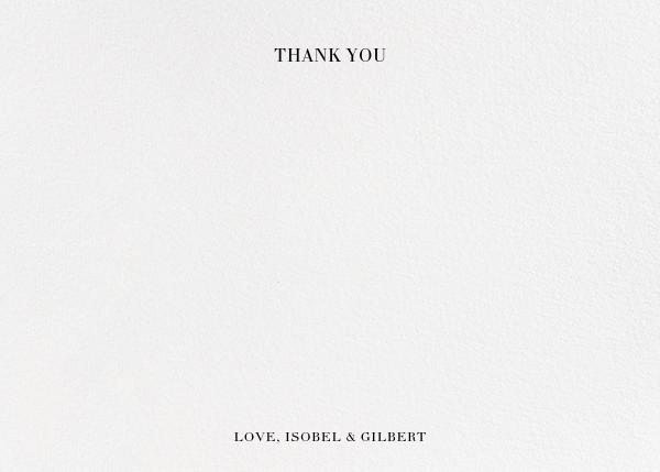 Cherish (Photo Stationery) - Gold - Kelly Wearstler - Wedding - card back