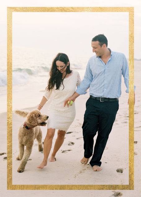 Editorial II (Photo Invitation) - White/Gold - Paperless Post - All