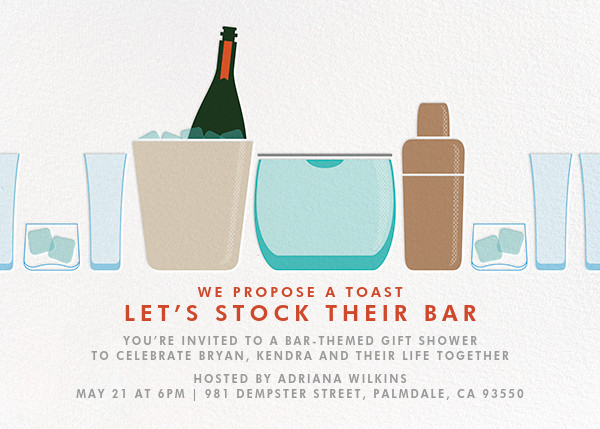 Party on Ice - Crate & Barrel - Bridal shower