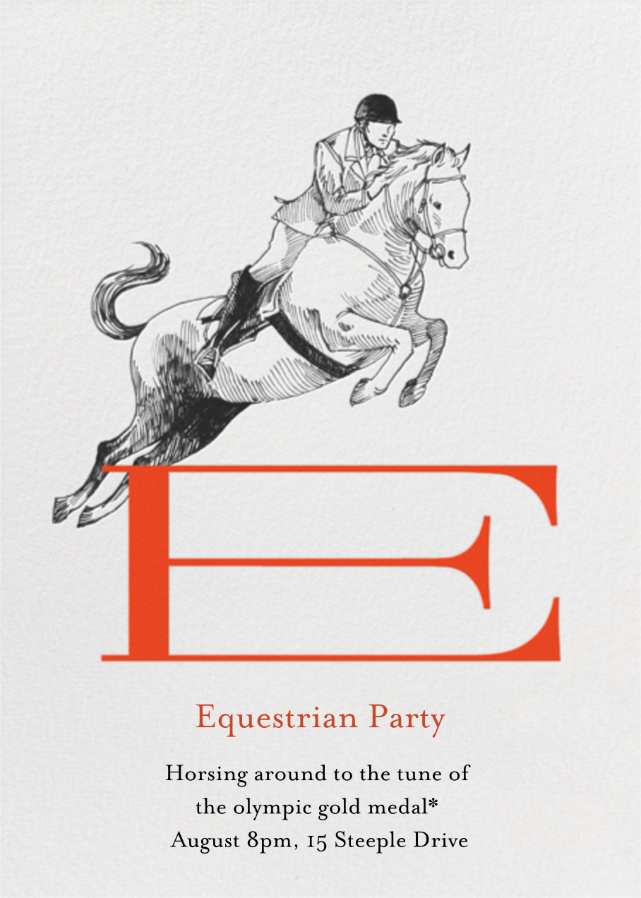 Equestrian Athlete - Paperless Post - Sports